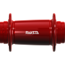 Track rear hub in Red Anodized